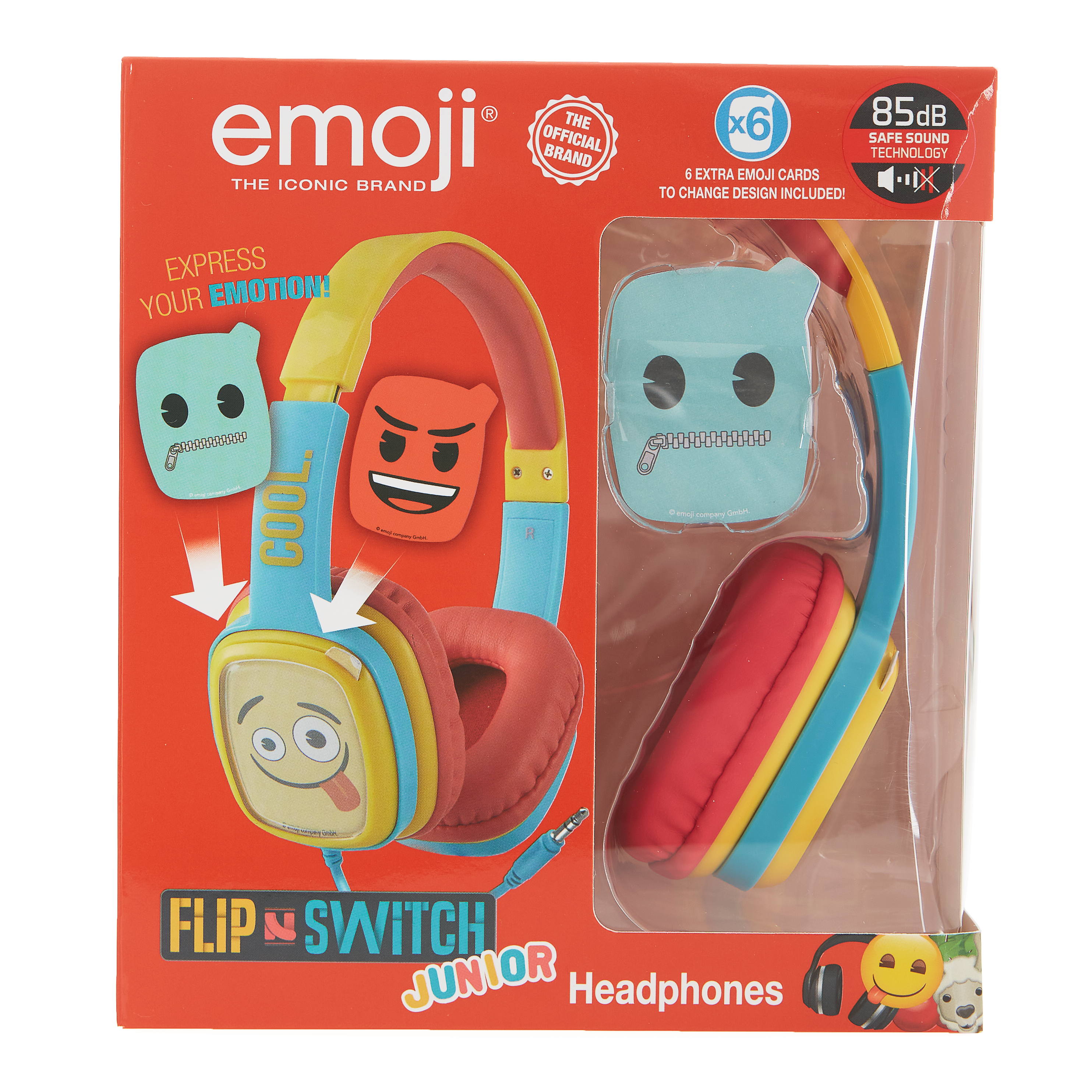 Emoji - Flip & Switch - Junior koptelefoon (geel)