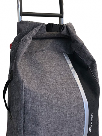 Rolser shopping trolley - Roll Top Tweed (Gris / Logic RG)
