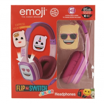 Emoji - Flip & Switch - Junior koptelefoon (roze)